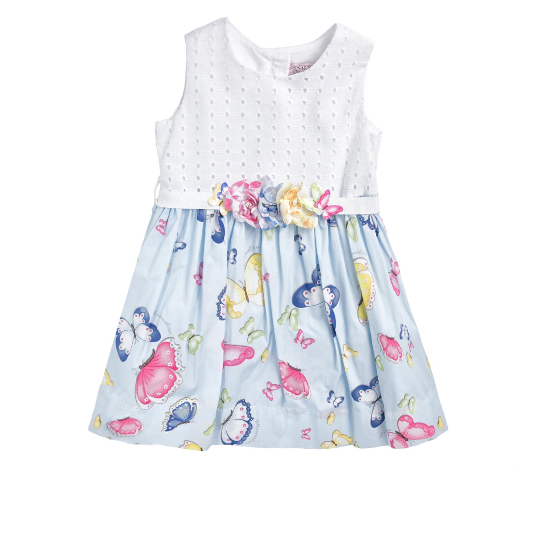 MONNALISA – Φόρεμα MONNALISA PRIMAVERA γαλάζιο με πεταλούδες