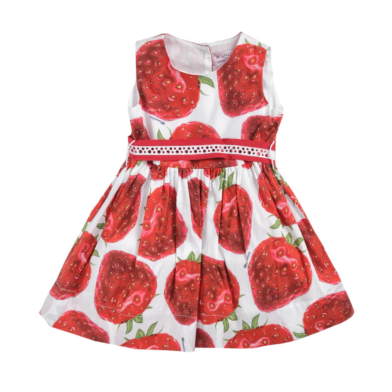 MONNALISA – Φόρεμα MONNALISA FRAGOLA με φράουλες
