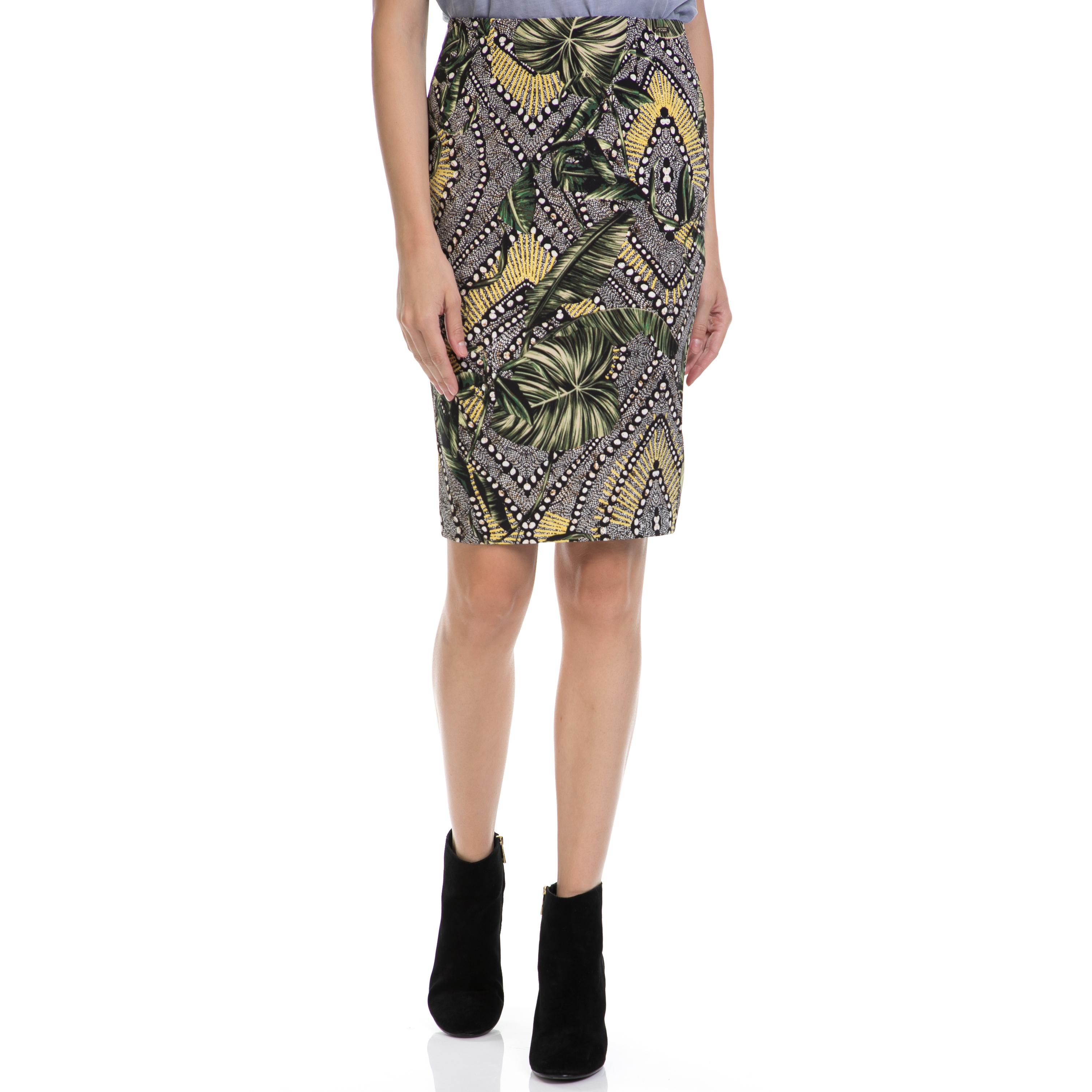 GUESS – Γυναικεία φούστα GUESS εμπριμέ 08a6384692e