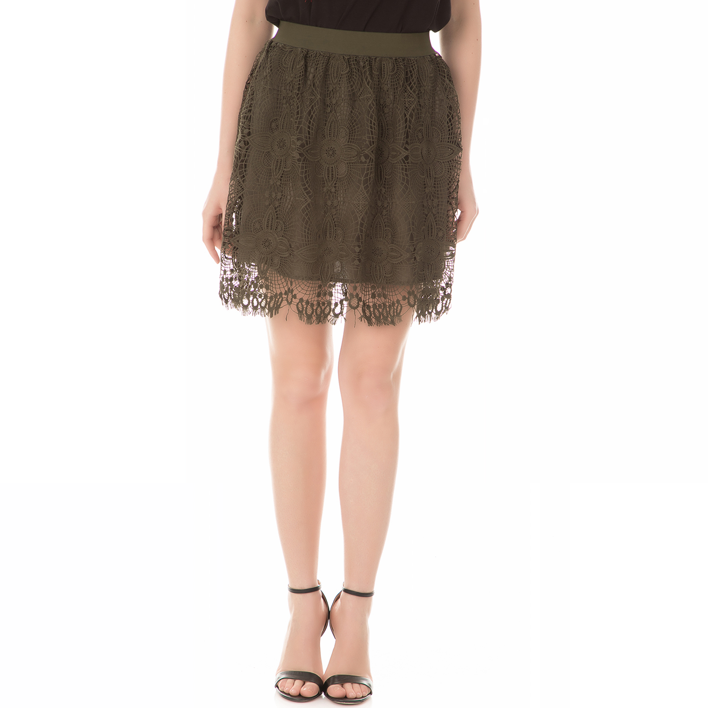 81c6f48c70f GUESS - Γυναικεία μίνι φούστα δαντέλα GUESS CALEDO λαδί