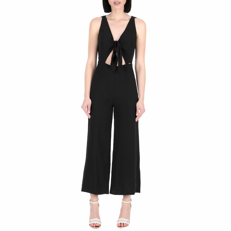 GUESS - Ολόσωμη φόρμα GUESS CESIA μαύρη γυναικεία ρούχα ολόσωμες φόρμες