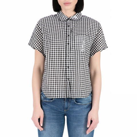 4c9e95ba20 Γυναικείο κοντομάνικο πουκάμισο GUESS με καρό μοτίβο (1528258.0-7496 ...