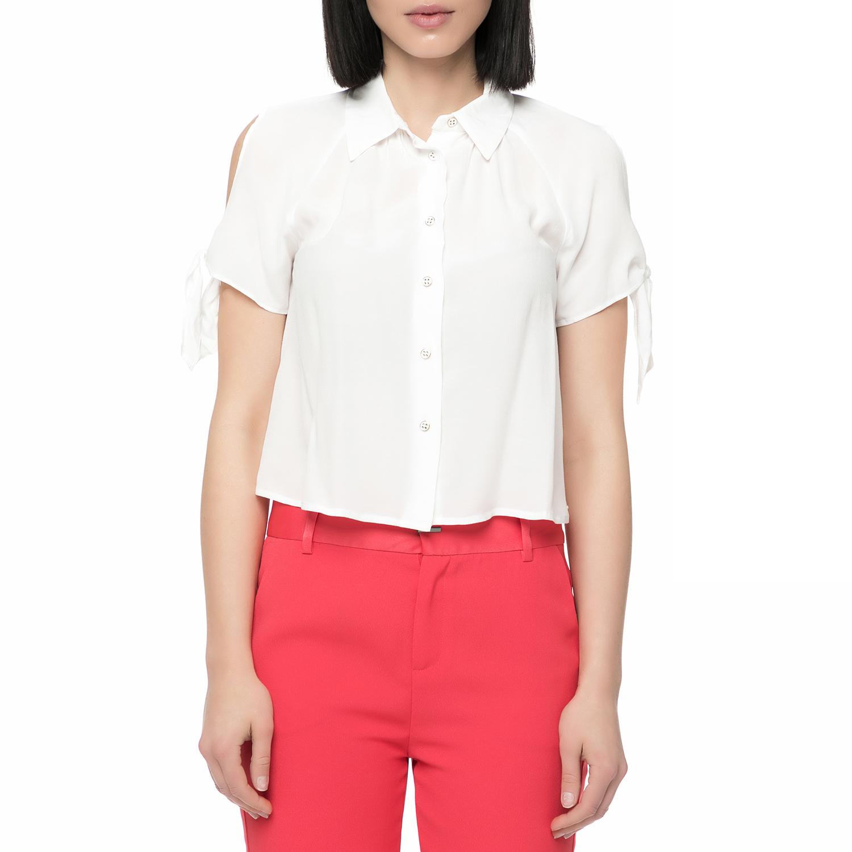 GUESS - Γυναικείο κοντομάνικο πουκάμισο Guess PATI CREPE FLU...
