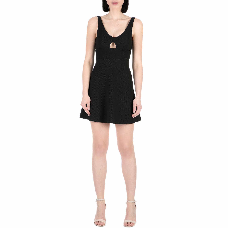 GUESS - Γυναικείο mini φόρεμα Guess ANNA μαύρο γυναικεία ρούχα φορέματα μίνι