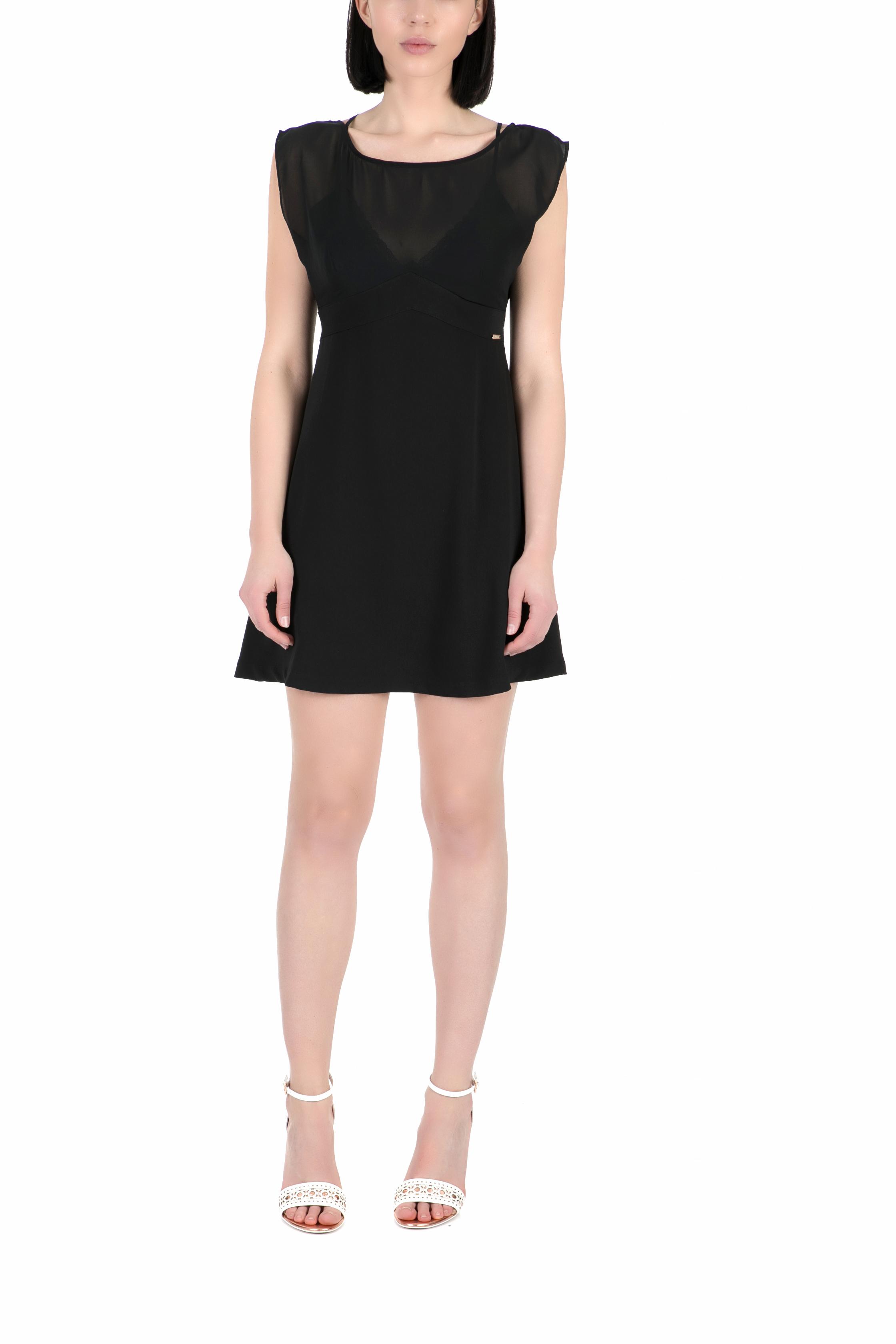 GUESS - Γυναικείο μίνι φόρεμα Guess IDRIS μαύρο γυναικεία ρούχα φορέματα μίνι