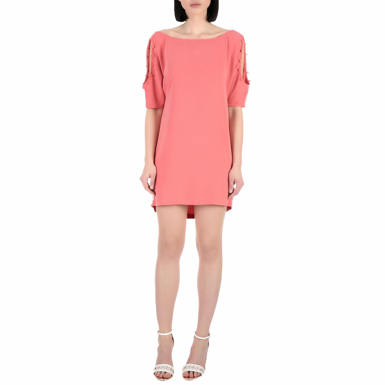 GUESS - Γυναικείο μίνι φόρεμα Guess CARLA ροζ γυναικεία ρούχα φορέματα μίνι