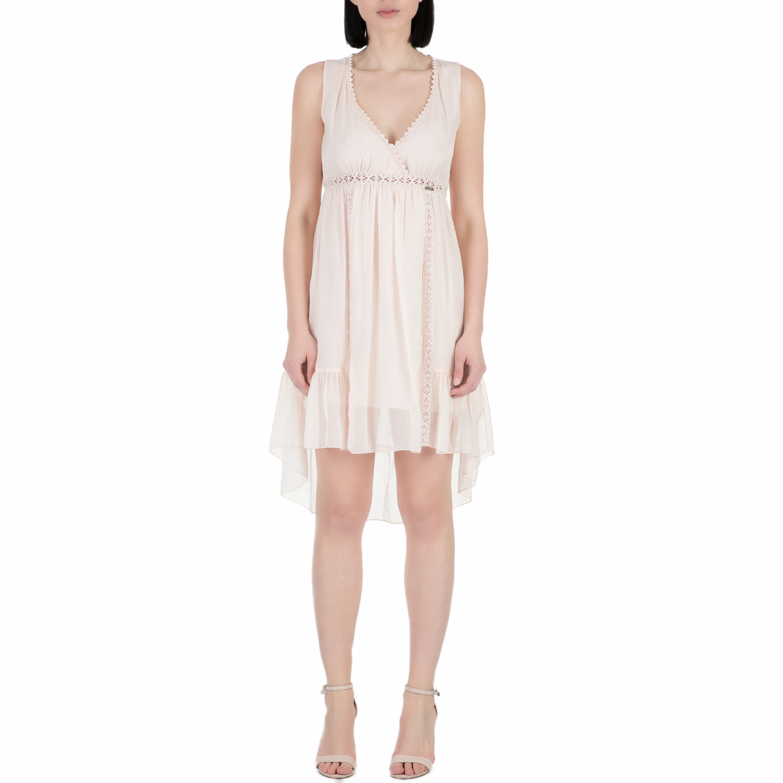 GUESS - Γυναικείο μίνι φόρεμα Guess ELECTRA ροζ γυναικεία ρούχα φορέματα μίνι
