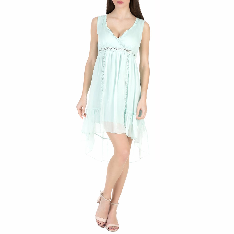 GUESS - Γυναικείο μίνι φόρεμα Guess ELECTRA γαλάζιο γυναικεία ρούχα φορέματα μίνι