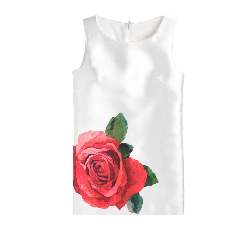 MONNALISA - Φόρεμα MONNALISA ROSA λευκό παιδικά girls ρούχα φορέματα