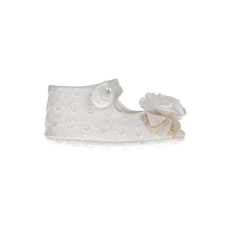 MONNALISA - Βρεφικές μπαλαρίνες MONNALISA BALLERINA S.GALLO λευκές παιδικά baby παπούτσια casual