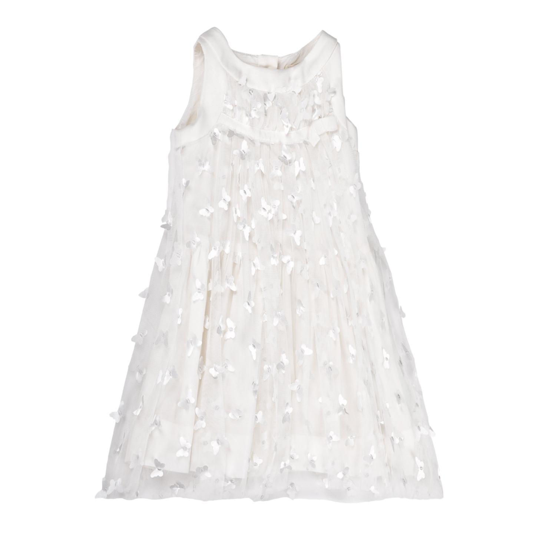 MONNALISA – Φόρεμα MONNALISA λευκό με πεταλούδες