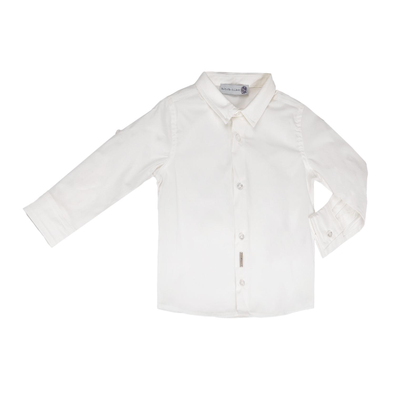 MONNALISA - Αγορίστικο πουκάμισο MONNALISA λευκό παιδικά boys ρούχα πουκάμισα