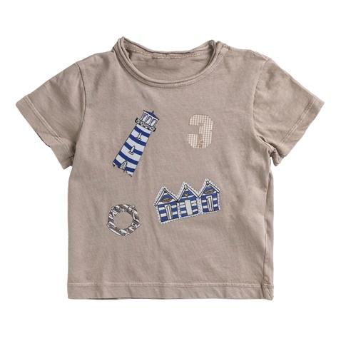 Αγορίστικη κοντομάνικη μπλούζα MONNALISA μπεζ με στάμπα (1528701 ... b63c310a432