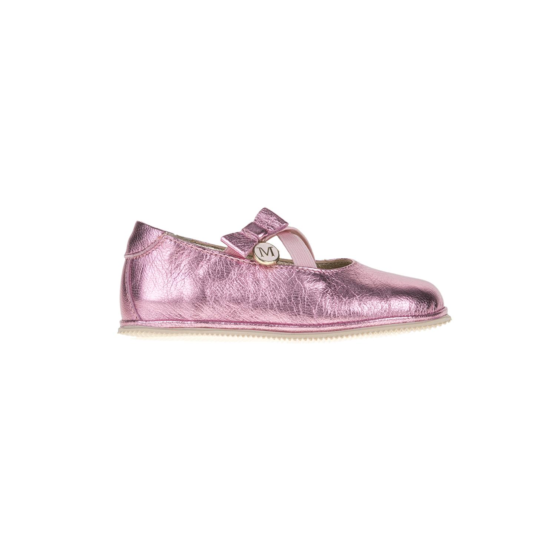 MONNALISA SHOES - Μπαλαρίνες MONNALISA SHOES PREPASSI LAMINA ροζ παιδικά girls παπούτσια casual