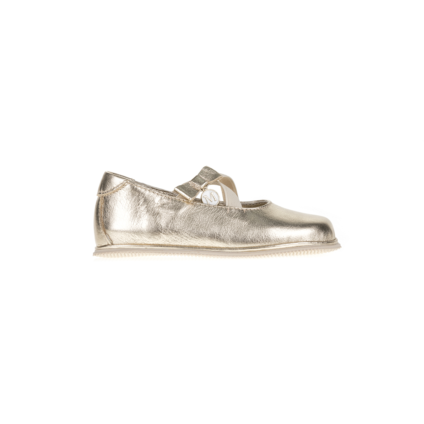 MONNALISA SHOES - Μπαλαρίνες MONNALISA SHOES PREPASSI LAMINA χρυσές παιδικά girls παπούτσια casual