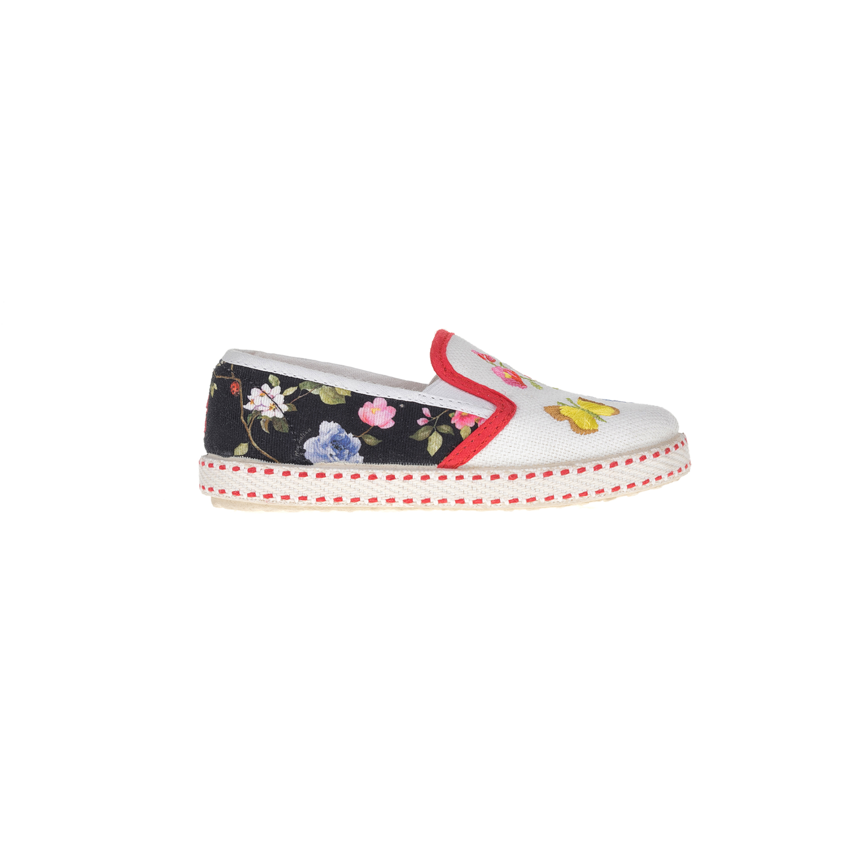 MONNALISA SHOES - Slip-on παπούτσια MONNALISA SHOES BOTANICO φλοράλ παιδικά girls παπούτσια εσπαντρίγιες slip on