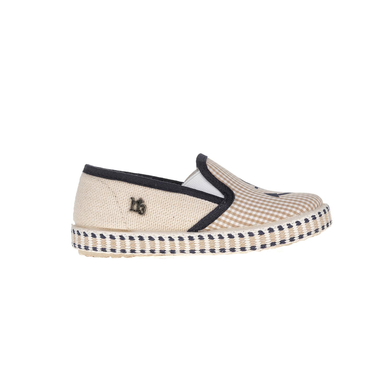 MONNALISA SHOES - Slip-on παπούτσια MONNALISA SHOES ANCORA H+3 μπεζ παιδικά boys παπούτσια εσπαντρίγιες slip on