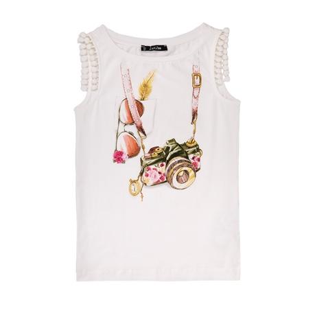 f7ca7b5d479 Παιδικό αμάνικο μπλουζάκι Jakioo λευκό με στάμπα (1528846.0-0092) | Factory  Outlet
