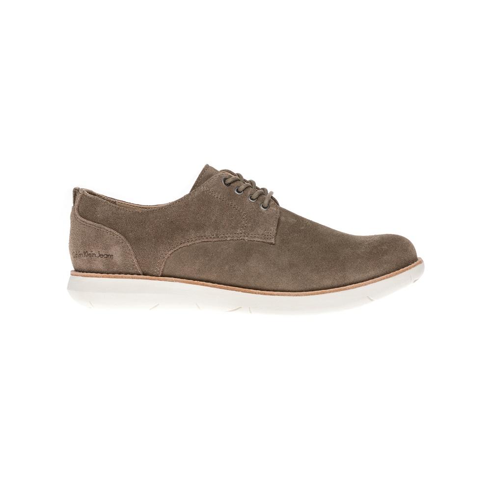 CALVIN KLEIN JEANS - Ανδρικά δετά παπούτσια CALVIN KLEIN JEANS καφέ ανδρικά παπούτσια δετά casual