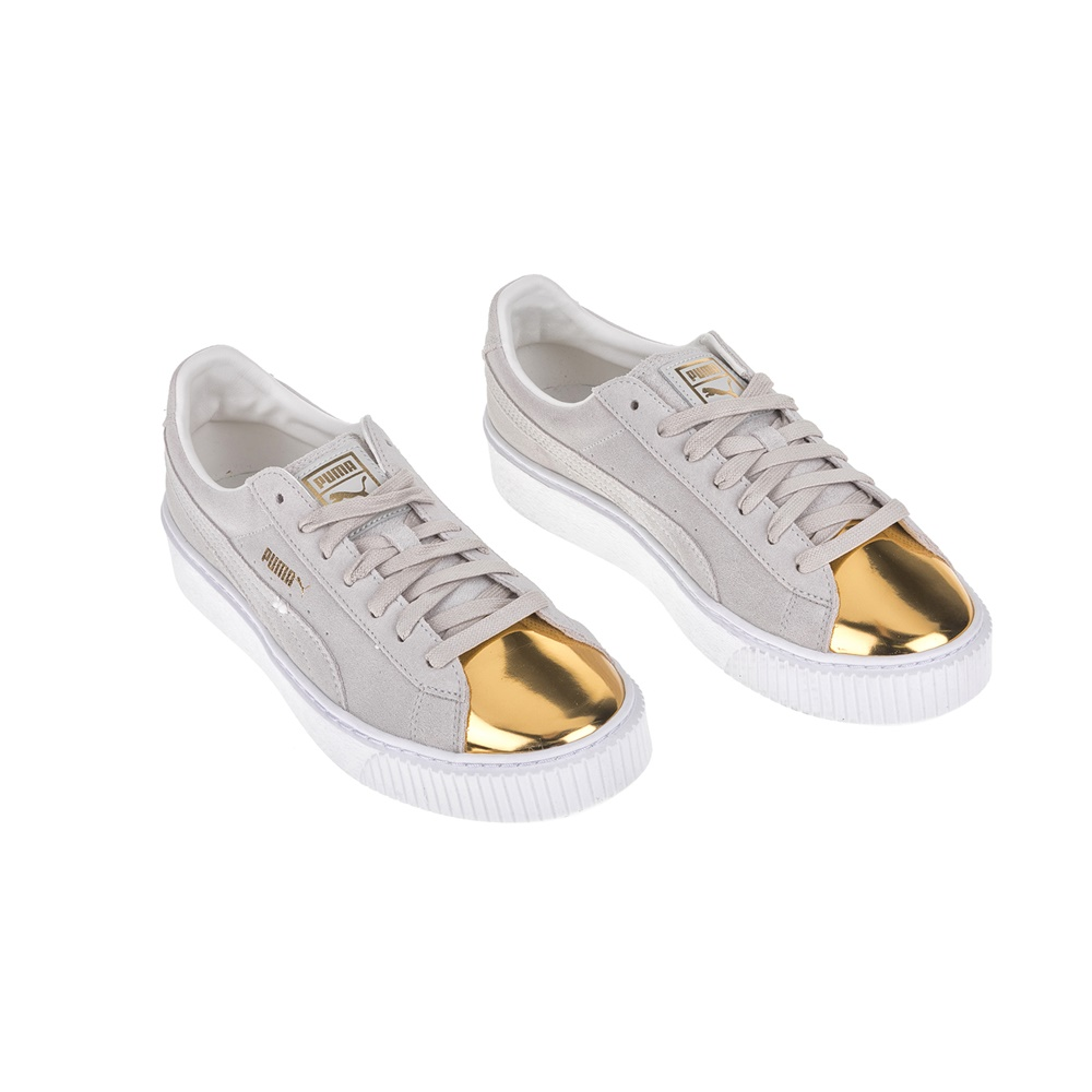 fc4ba5d985 PUMA - Γυναικεία sneakers Puma SUEDE PLATFORM μπεζ - χρυσά ...