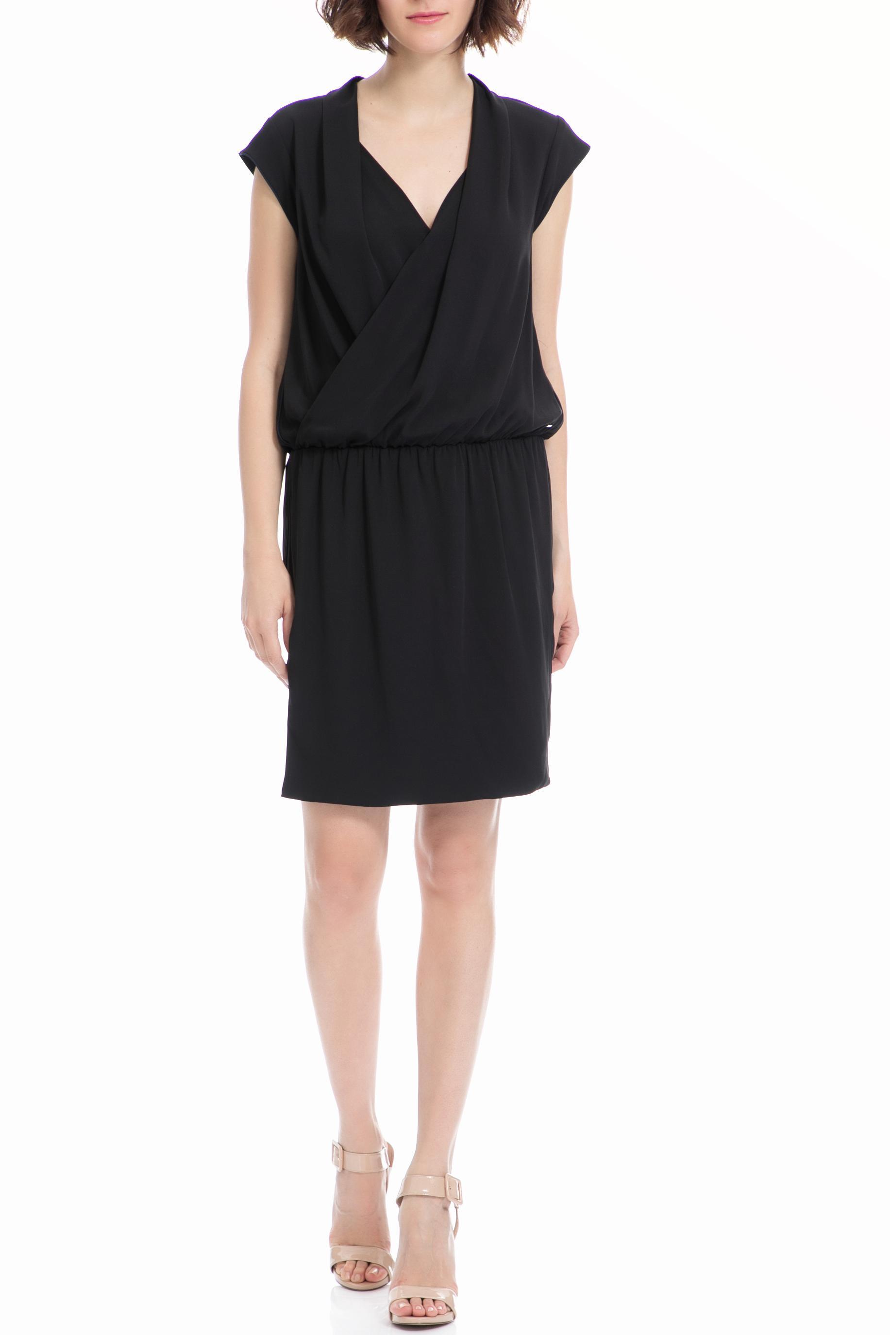 GAS - Γυναικείο φόρεμα Gas μαύρο γυναικεία ρούχα φορέματα μίνι