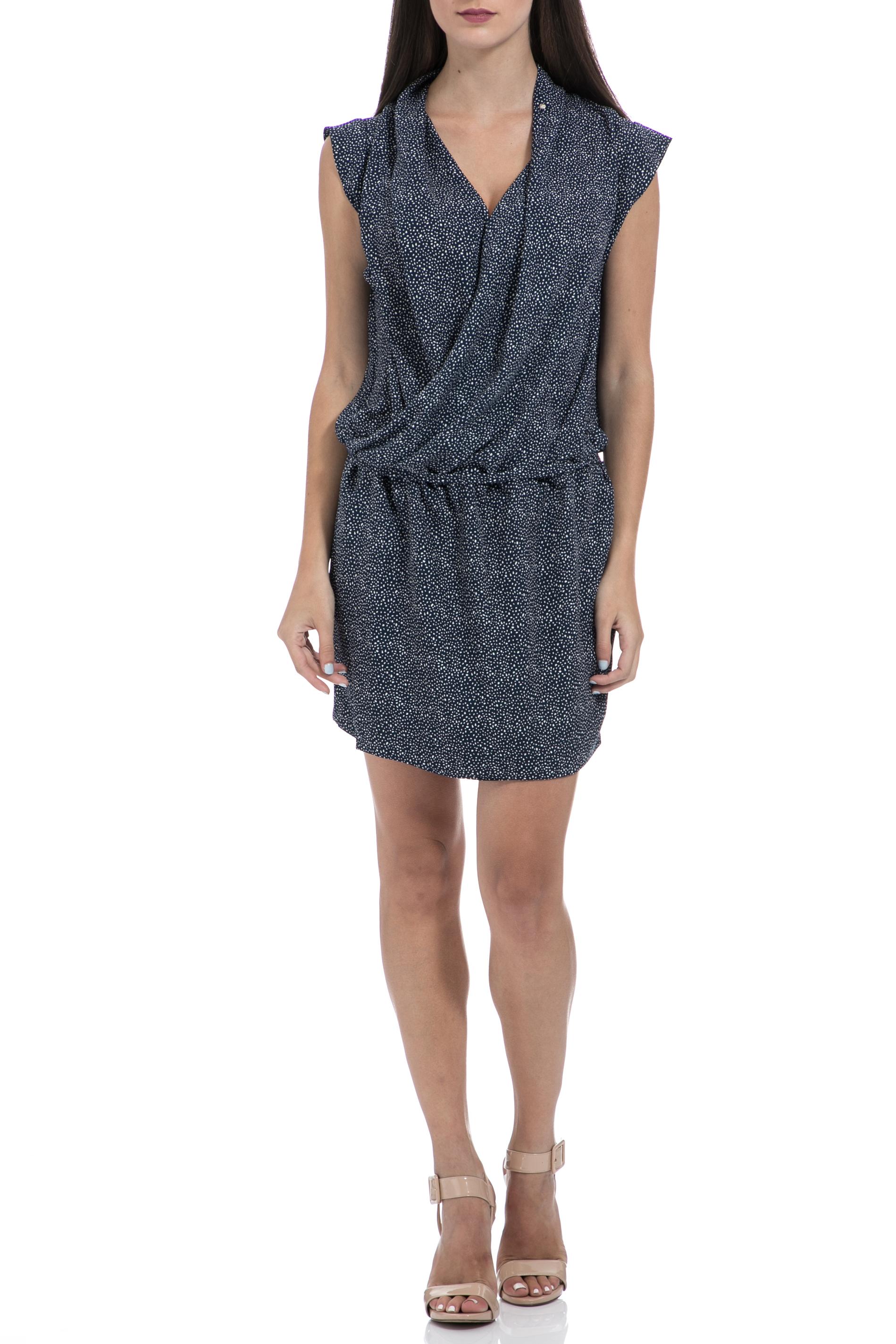 GAS - Γυναικείο φόρεμα GAS VESTITI VIKING DRESS CREPE PRI μπλε γυναικεία ρούχα φορέματα μίνι