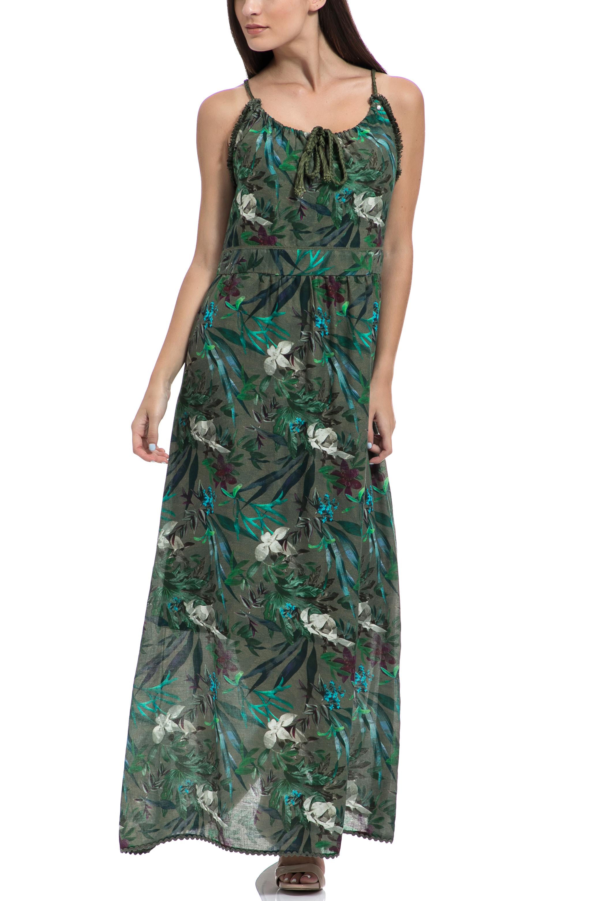 GAS - Γυναικείο φόρεμα VESTITI MELODYC πράσινο γυναικεία ρούχα φορέματα μάξι