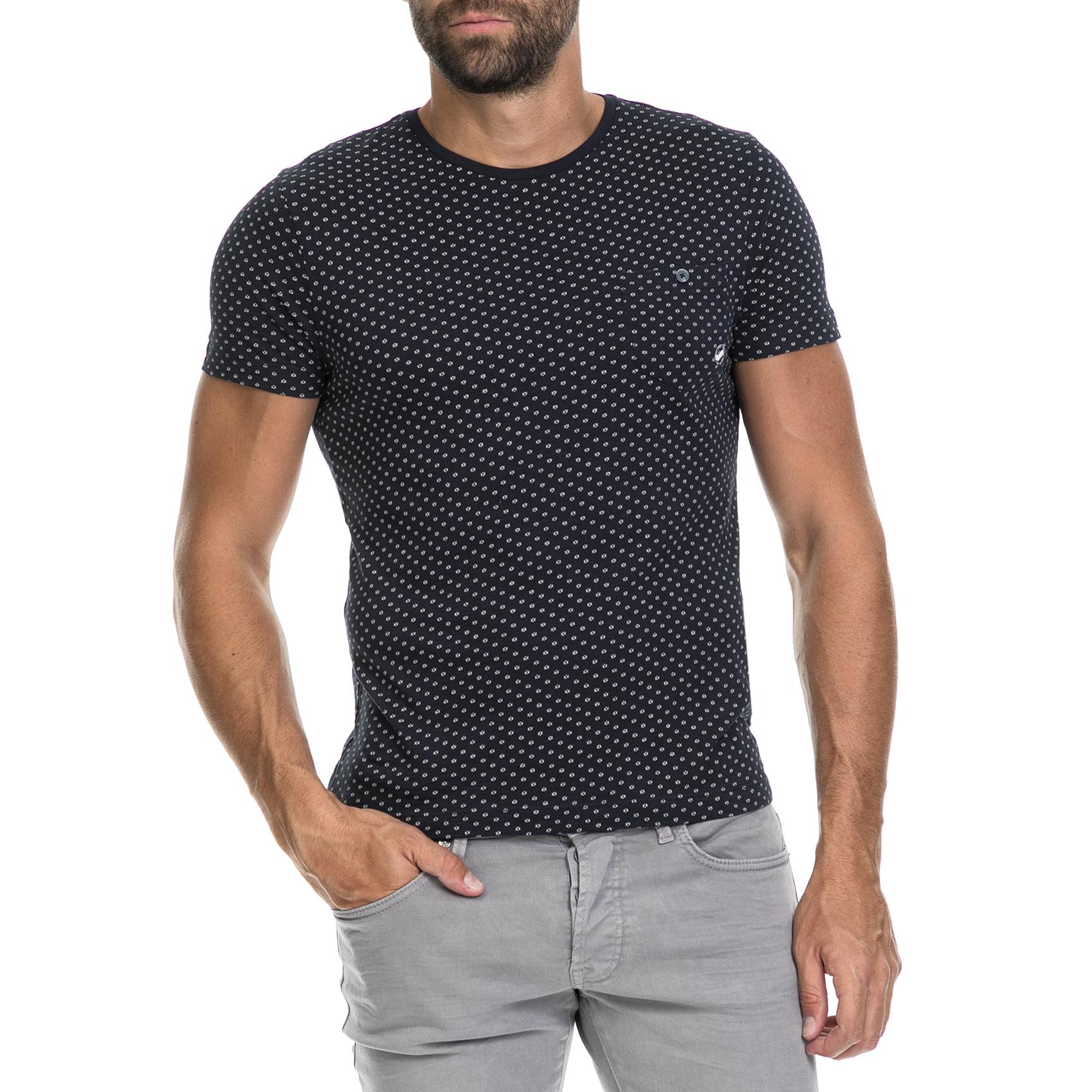 GAS - Ανδρική μπλούζα GOLM/S GAS μαύρη ανδρικά ρούχα μπλούζες κοντομάνικες