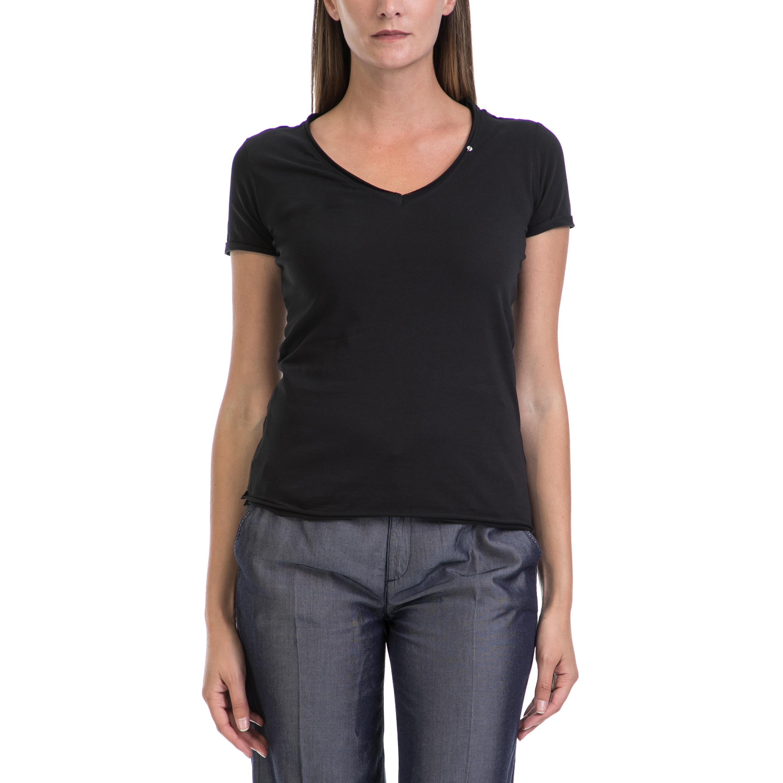 GAS - Γυναικεία μπλούζα GAS μαύρη γυναικεία ρούχα μπλούζες t shirt