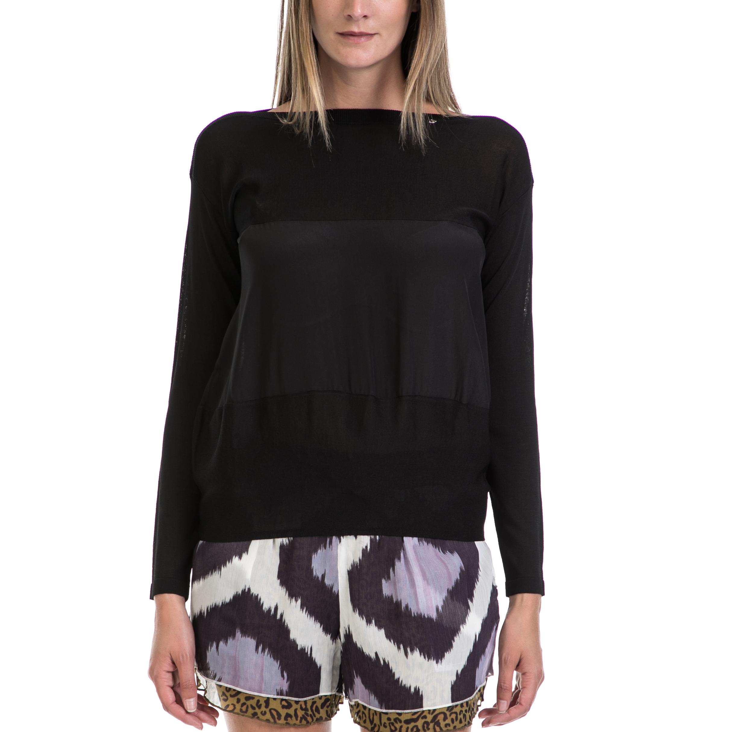 GAS - Γυναικεία μπλούζα GAS μαύρη γυναικεία ρούχα μπλούζες μακρυμάνικα