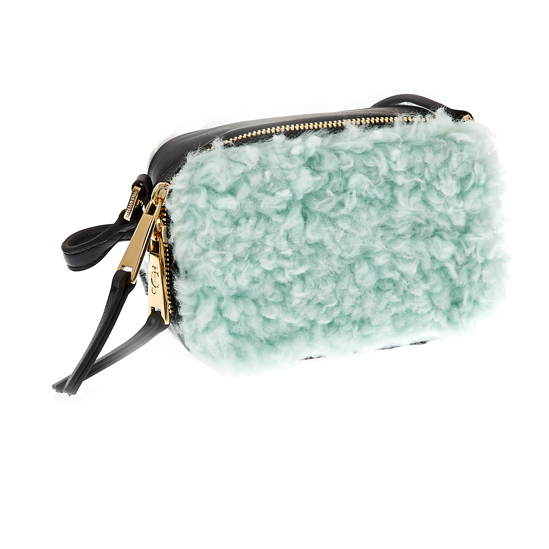 JUICY COUTURE - Τσάντα χειρός Juicy Couture γαλάζια γυναικεία αξεσουάρ τσάντες σακίδια χειρός