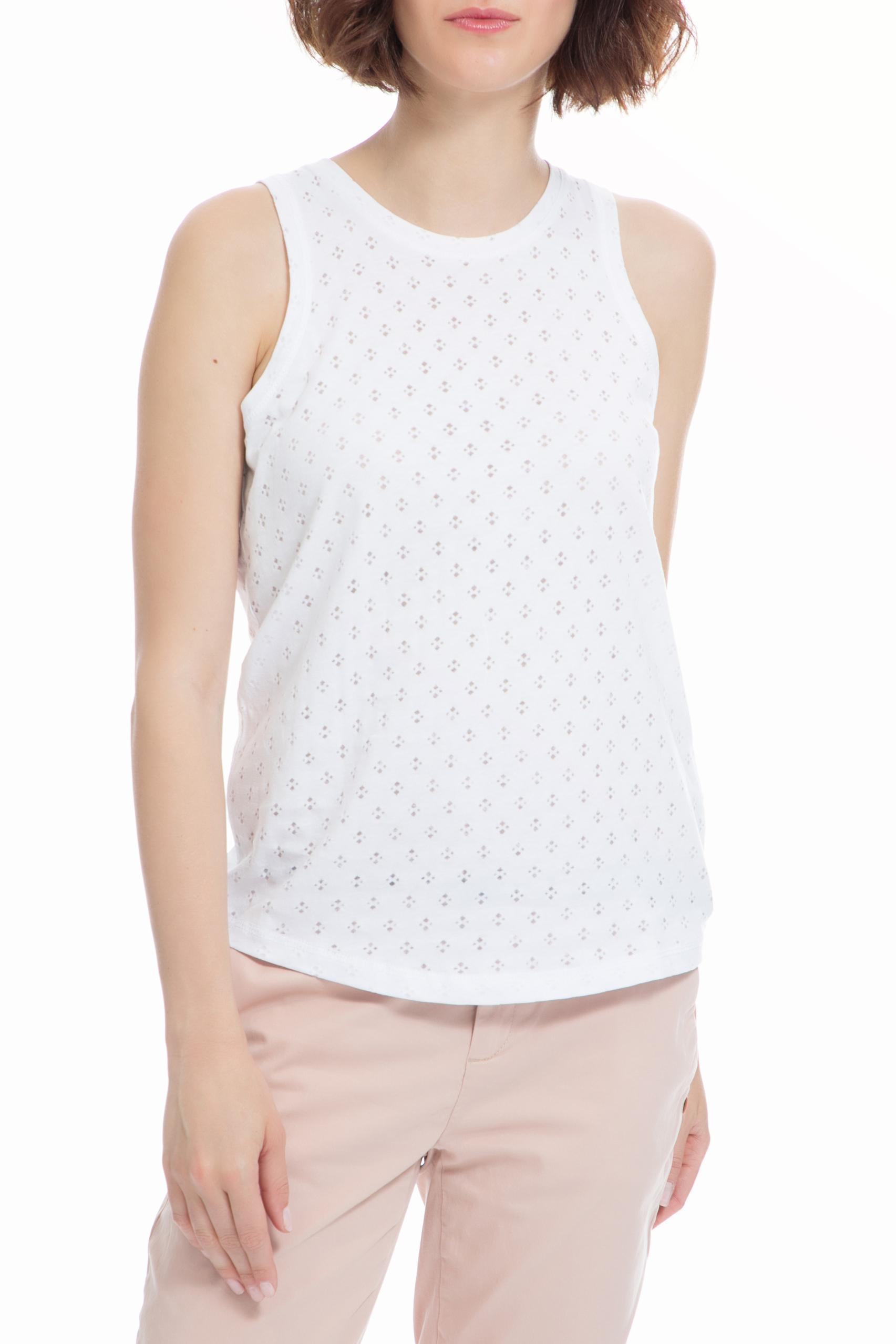 40-WEFT - Γυναικεία μπλούζα 40-WEFT λευκή γυναικεία ρούχα μπλούζες αμάνικες