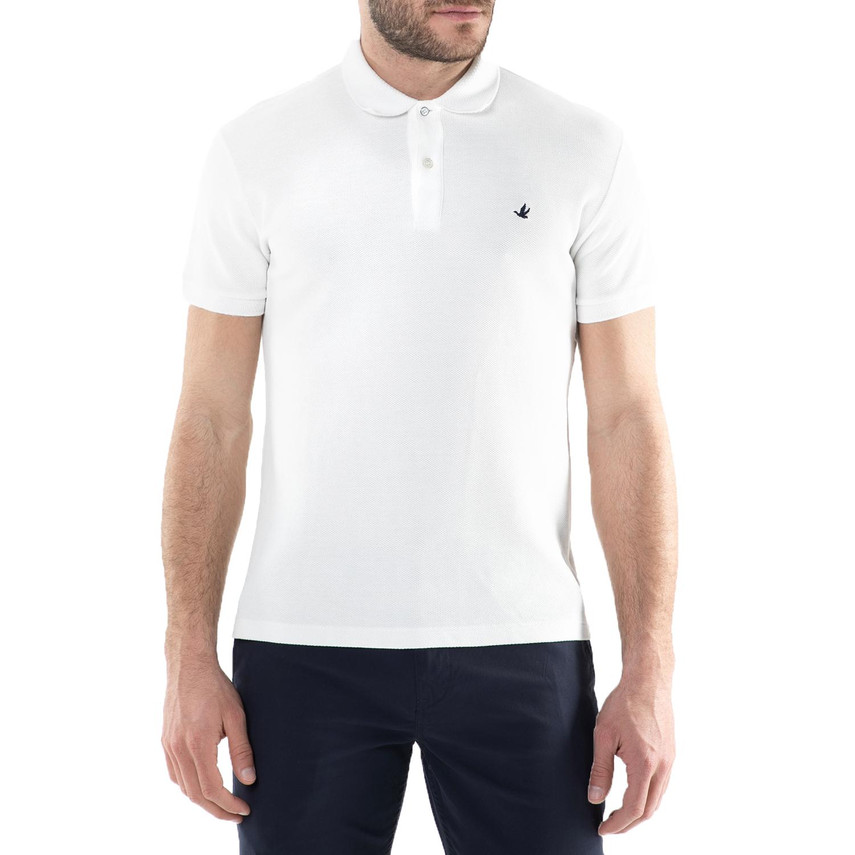 64c0e0c02066 BROOKSFIELD - Ανδρική κοντομάνικη polo μπλούζα Brooksfield λευκή