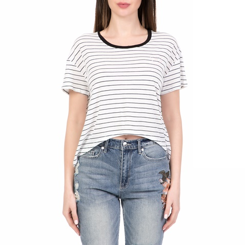 0fcf3a630b7 Γυναικεία κοντομάνικη μπλούζα SLIM STRIPE JUICY COUTURE λευκή-μαύρη  (1532576.0-7191)   Factory Outlet