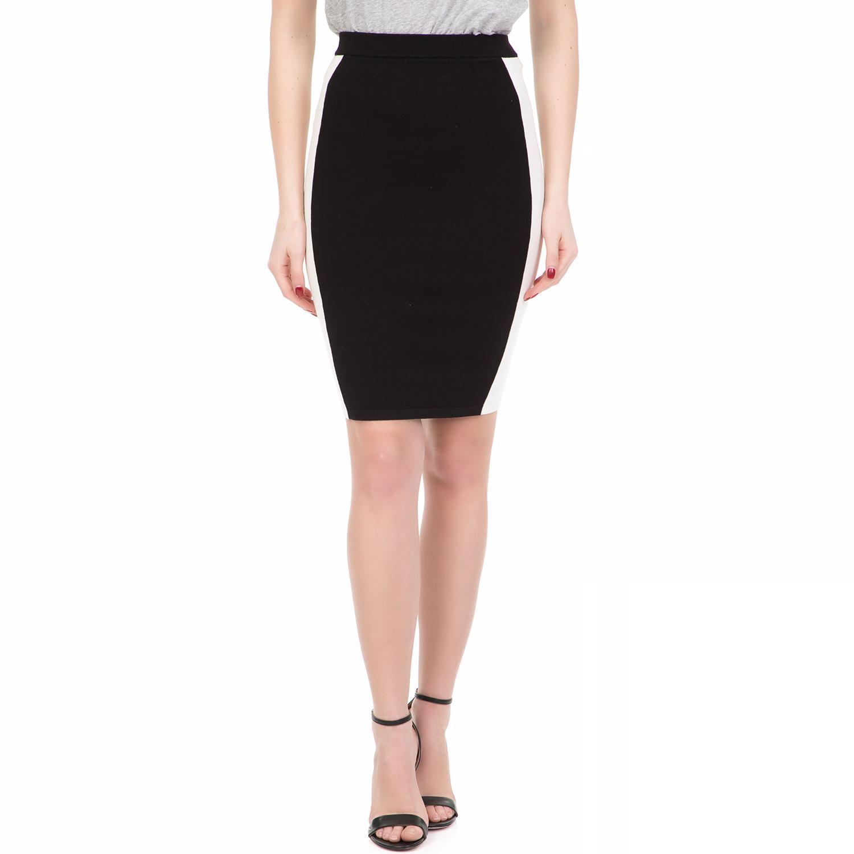 JUICY COUTURE - Γυναικεία midi φούστα CONTRAST STRIPE JUICY COUTURE μαύρη