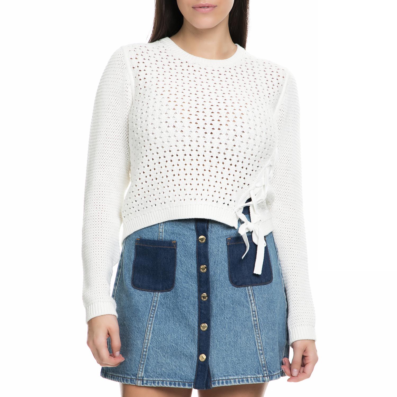 JUICY COUTURE - Γυναικεία πλεκτή μπλούζα JUICY COUTURE λευκή