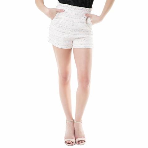 JUICY COUTURE-Γυναικείο ψηλόμεσο σορτς studded pastel tweed Juicy Couture