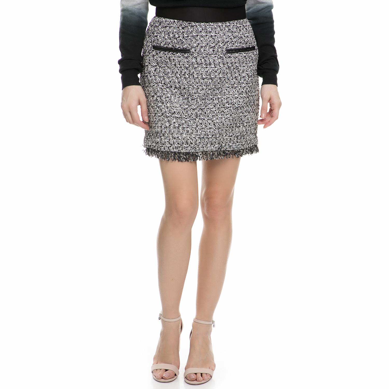 JUICY COUTURE - Γυναικεία μίνι φούστα tweed Juicy Couture μαύρη - λευκή