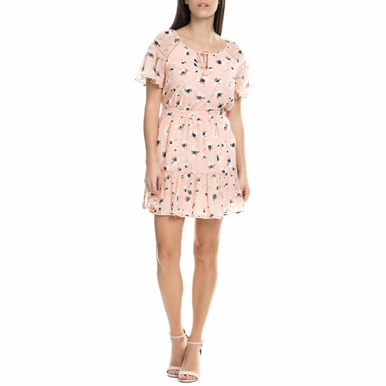 JUICY COUTURE - Γυναικείο μίνι φόρεμα Juicy Couture ροζ φλοράλ γυναικεία ρούχα φορέματα μίνι