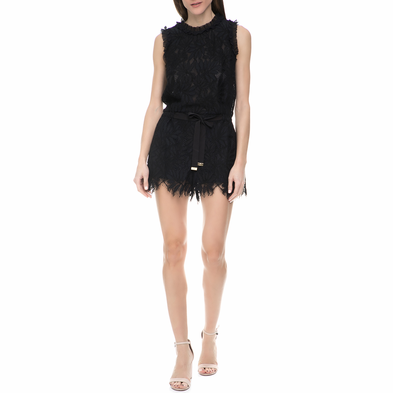 JUICY COUTURE - Γυναικείο αμάνικο ολόσωμο σορτς με δαντέλα Juicy Couture μαύρο γυναικεία ρούχα ολόσωμες φόρμες