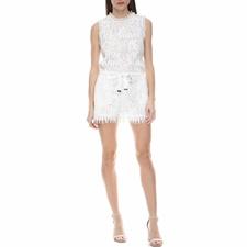 JUICY COUTURE-Γυναικείο ολόσωμο σορτς με δαντέλα Juicy Couture λευκό
