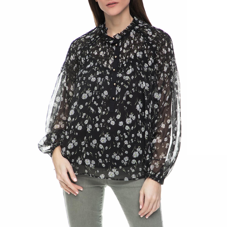 JUICY COUTURE – Γυναικεία μακρυμάνικη πουκαμίσα Juicy Couture μαύρη φλοράλ