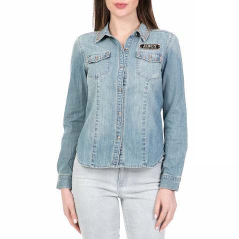 5a80a2197c91 Γυναικείο τζιν πουκάμισο CHAMBRAY JUICY COUTURE μπλε (1532651.0-0012 ...