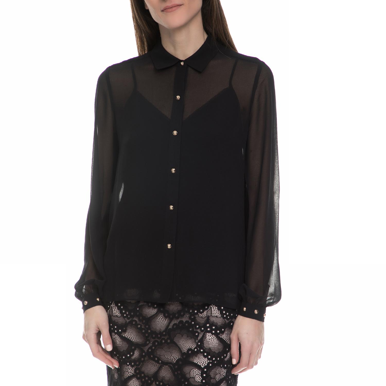 JUICY COUTURE - Γυναικείο μακρυμάνικο πουκάμισο Juicy Couture μαύρο