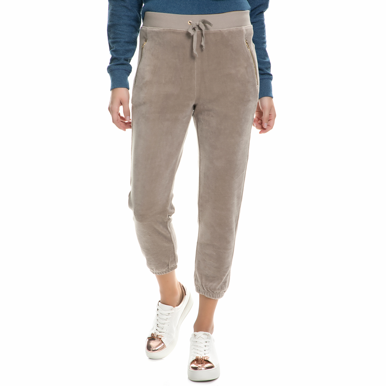 JUICY COUTURE - Παντελόνι φόρμας JUICY COUTURE μπεζ γυναικεία ρούχα παντελόνια φόρμες