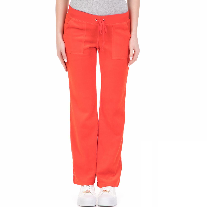 JUICY COUTURE - Γυναικείο παντελόνι φόρμας VELOUR DEL REY JUICY COUTURE κόκκινο γυναικεία ρούχα ολόσωμες φόρμες