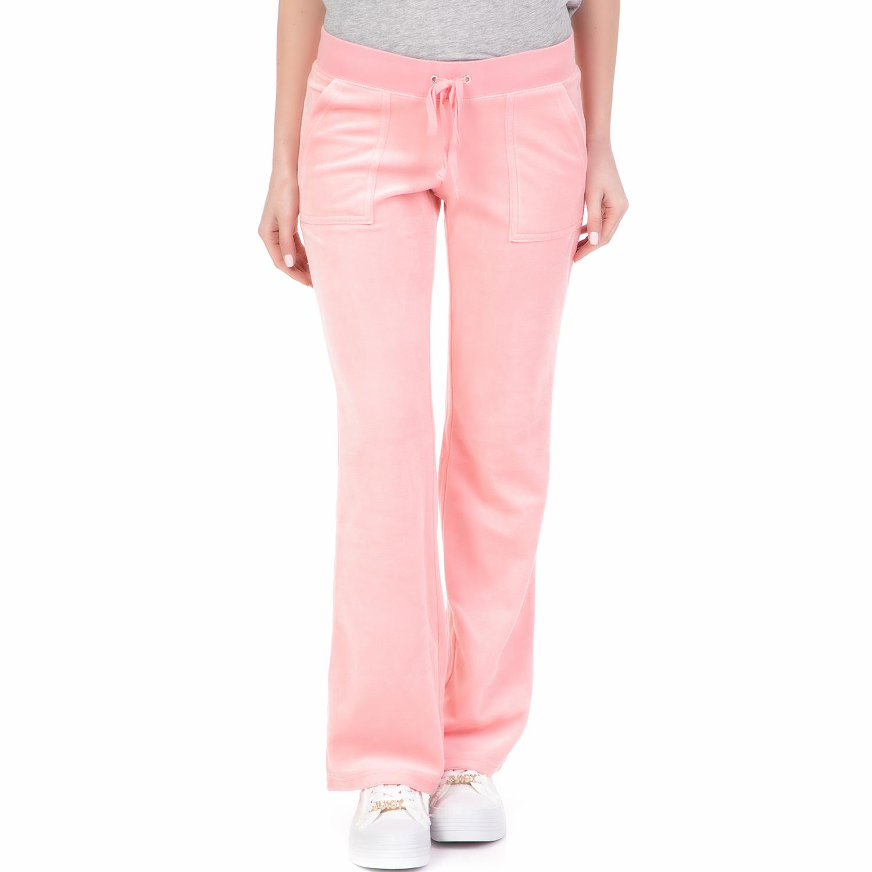 JUICY COUTURE - Γυναικείο παντελόνι φόρμας VELOUR DEL REY JUICY COUTURE ροζ γυναικεία ρούχα παντελόνια φόρμες