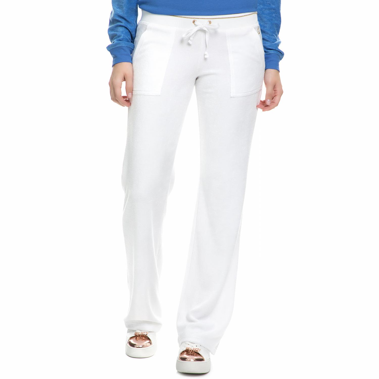 JUICY COUTURE - Παντελόνι φόρμας JUICY COUTURE λευκό γυναικεία ρούχα παντελόνια φόρμες