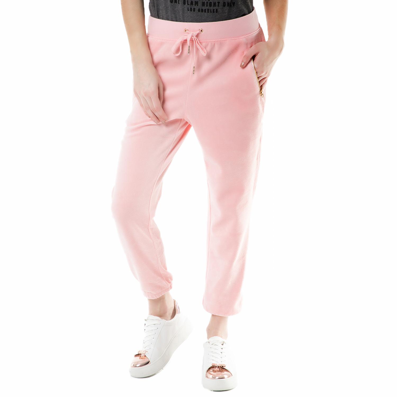 JUICY COUTURE - Γυναικείο παντελόνι φόρμας velour silverlake Juicy Couture ροζ γυναικεία ρούχα παντελόνια φόρμες