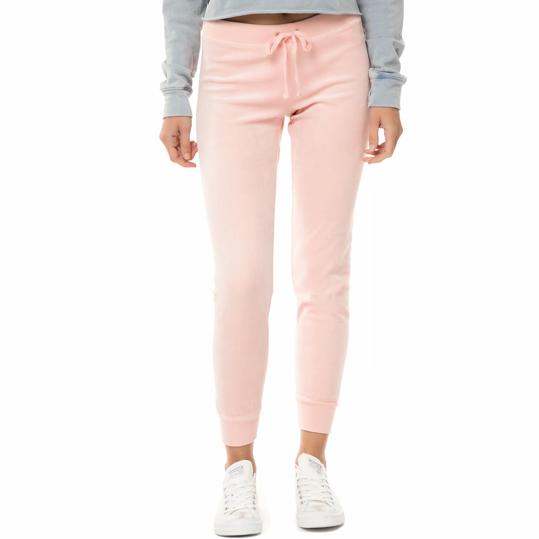JUICY COUTURE - Γυναικείο παντελόνι φόρμας JUICY COUTURE TRK VELOUR ZUMA ροζ γυναικεία ρούχα παντελόνια φόρμες